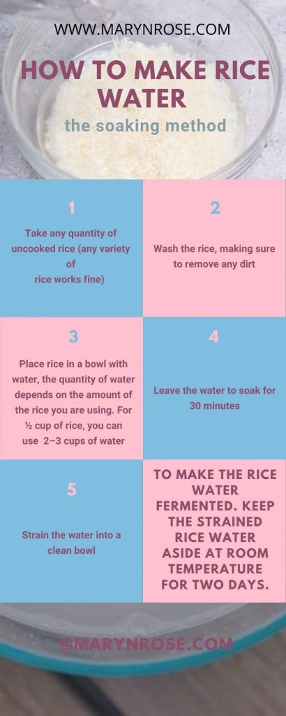 how to prepare rice water for fast hair growth